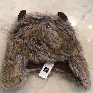Gap Kids horn trapper of faux fur NWT